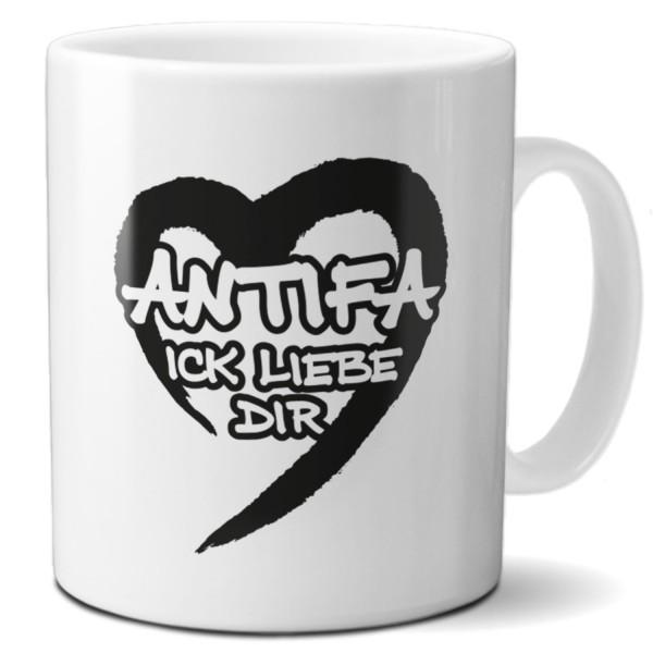 """Tasse """"ANTIFA Ick liebe Dir"""""""