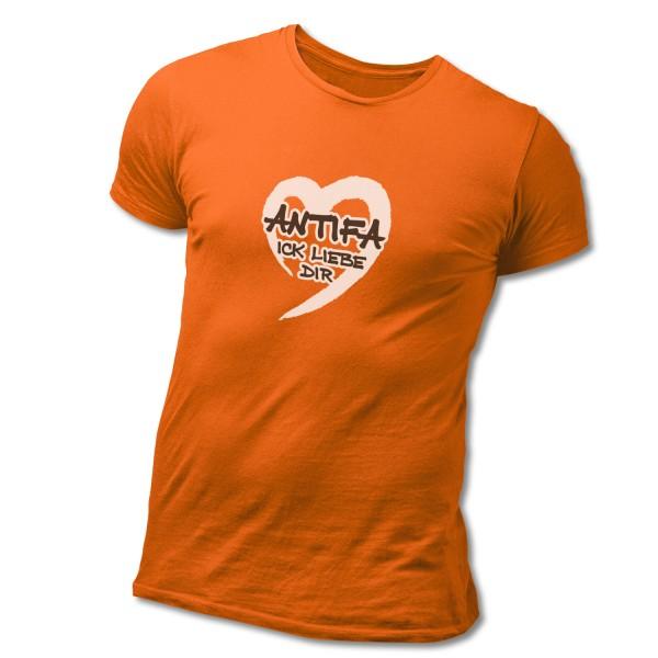 """T-Shirt """"ANTIFA Ick liebe Dir"""""""