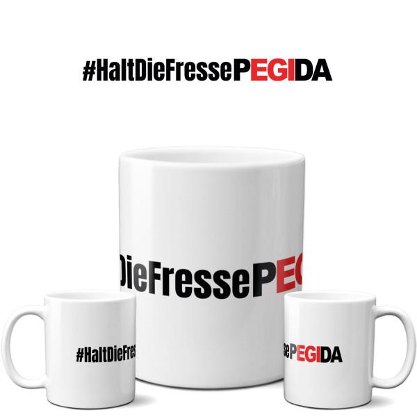 Tasse »#HaltDieFressePEGIDA«