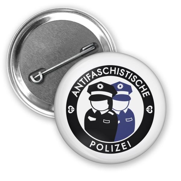 """Button """"Antifaschistische Polizei"""" (Ø 38mm)"""