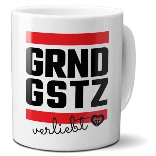 """Tasse """"GRNDGSTZ verliebt"""""""