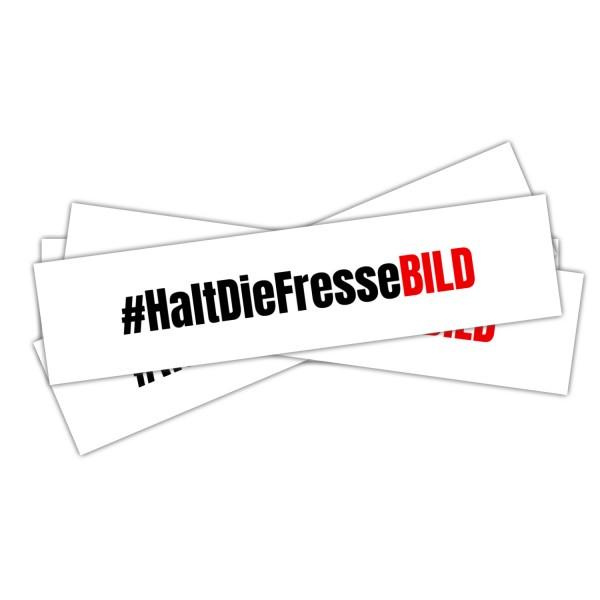 "Aufkleber ""#HaltDieFresseBILD"" (14,8cm x 3,5cm)"