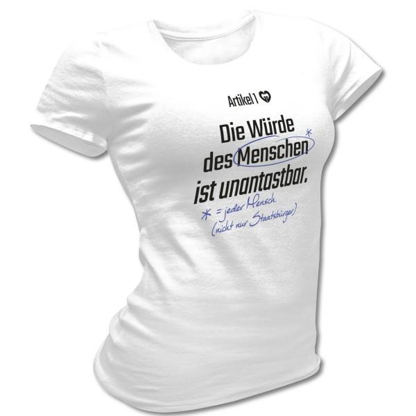 Shirt tailliert »Artikel 1 GG«