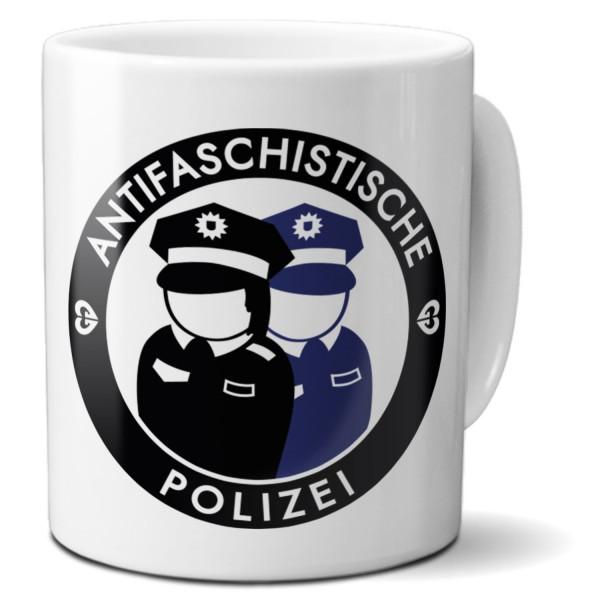 """Tasse """"Antifaschistische Polizei"""""""