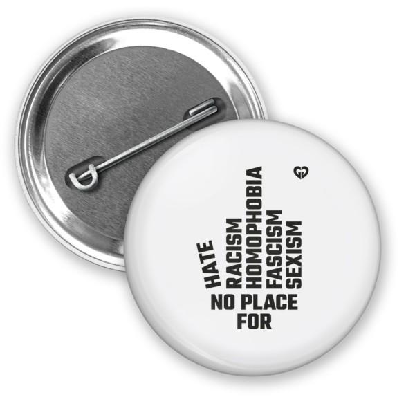 """Button """"NO PLACE"""" (Ø 38mm)"""